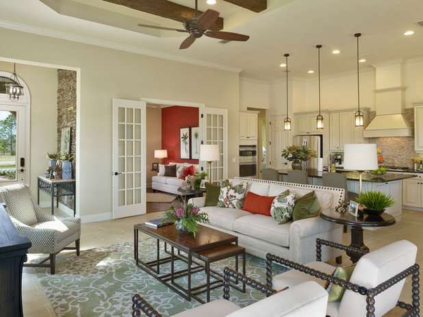 Mediterranean Living Room by Neal Signature Homes