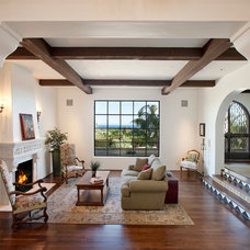 Mediterranean Living Room by Lindsey Adams Construction Inc.