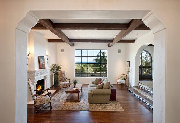 Mediterranean Living Room by Lindsey Adams Construction Inc.