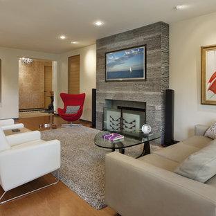 Modernes Wohnzimmer in Santa Barbara