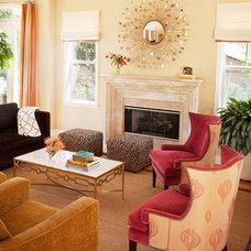 Traditional Living Room by Melanie Coddington