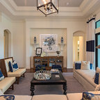 Kiawah Family Home Beach Style Living Room