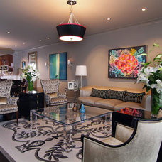 Contemporary Living Room Montgomery Roth