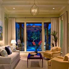 Mediterranean Living Room by Godfrey Design Consultants Inc