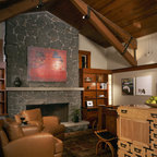 New River Bank Barn Contemporary Living Room Dc