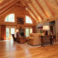 Rustic Living Room by Summit Custom Homes