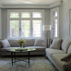 Transitional Living Room by Rebecca Mitchell Interiors & Boutique
