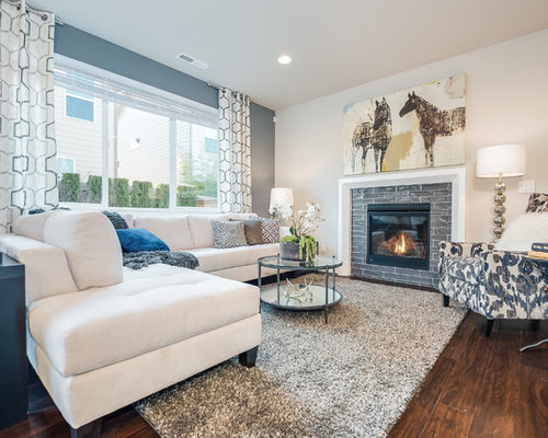 best blue gray living room design ideas remodel pictures houzz