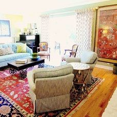 Eclectic Living Room by Sara Ingrassia Interiors