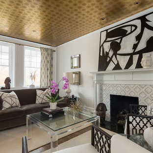Example Of A Transitional Living Room Design In Richmond