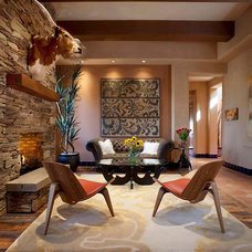 Contemporary Living Room by Michael Woodall photographer