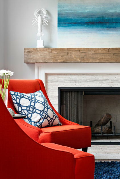 Beach Style Living Room by Corine Maggio Natural Designs