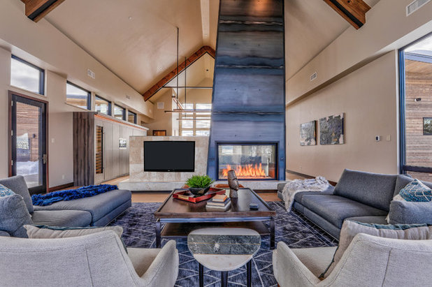 Contemporary Living Room by Rumor Design + reDesign