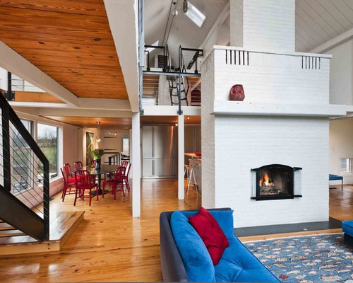 living room long narrow fireplace middle design with incredible 20 geous two sided fireplaces for your ious homes - Living Room With Fireplace In Middle