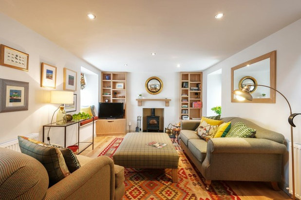 Farmhouse Living Room by Emma Clanfield Design Ltd