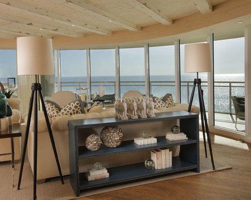 coastal open concept living room photo in miami - Light Fixtures Living Room