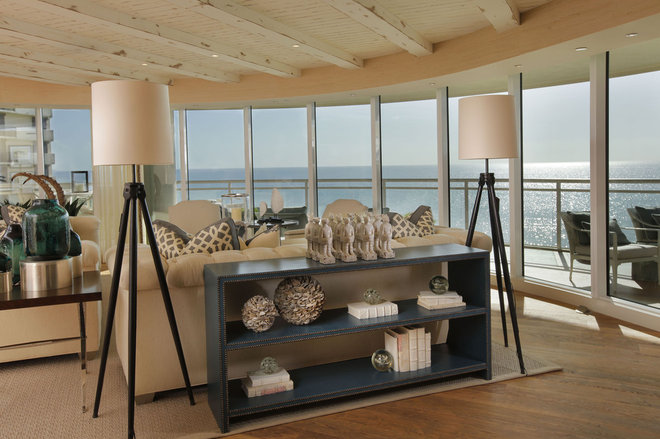 Beach Style Living Room by W Design Interiors