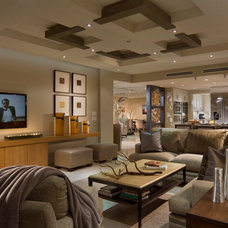 Contemporary Family Room by Crawford Interiors
