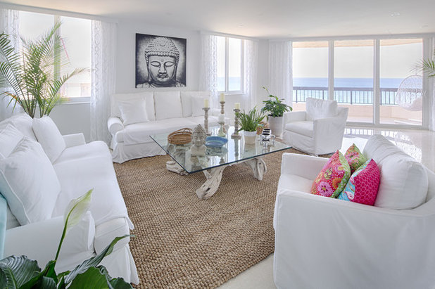 Beach Style Living Room by Rooms by Eve