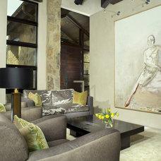 Modern Living Room by Slifer Designs
