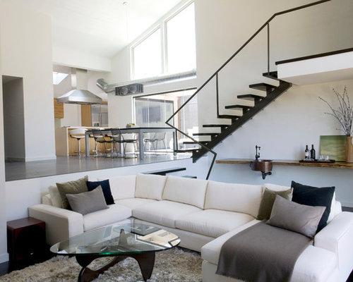 Contemporary Open Concept Living Room Idea In Orange County