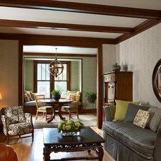 Craftsman Living Room by Meriwether Inc