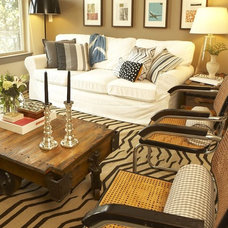 Eclectic Living Room by Claire Watkins Interior Design, LLC