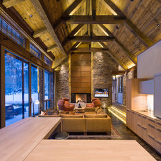 Rustic Living Room by Zone 4 Architects, LLC