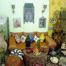 Eclectic Living Room by Treasures Of Morocco