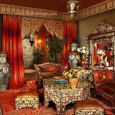 Mediterranean Living Room by Badia Design Inc.