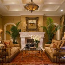 Mediterranean Living Room by Martin Architect, Inc.