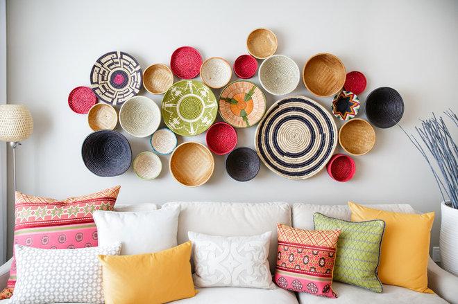 Mediterranean Living Room by Natalie Fuglestveit Interior Design