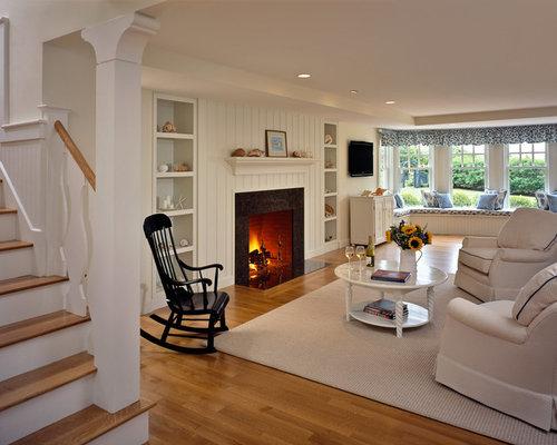 Beadboard fireplace houzz for Beadboard ideas for living room