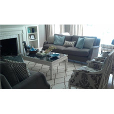Transitional Living Room by Lowes