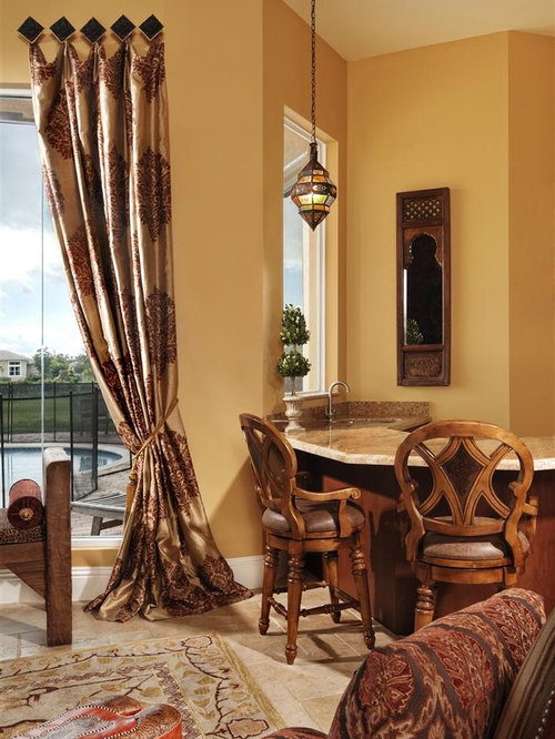 Medallion Hung Drapes Houzz