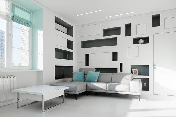 Современный Гостиная by Shamsudin Kerimov Architects