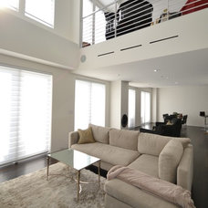 Modern Living Room by Budget Blinds of Dallas & Park Cities