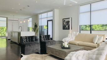 Motorized Roller Shades in New Construction Contemporary