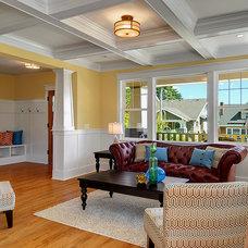 Craftsman Living Room by LimeLite Development