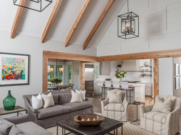Transitional Living Room by Christopher Architecture & Interiors