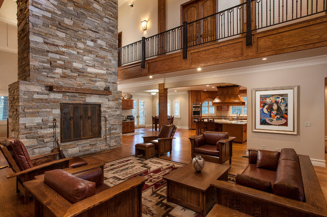 Traditional Living Room by Mountain Concepts