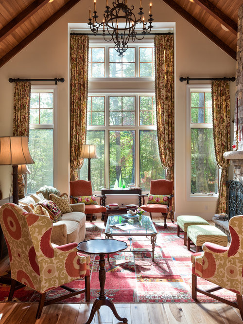 Houzz Cottage Living Room: Mountain Cottage Home Design Ideas, Pictures, Remodel And