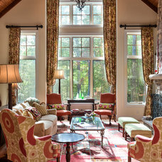 Traditional Living Room by Dianne Davant and Associates