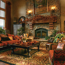 Traditional Living Room by Elements of  Home