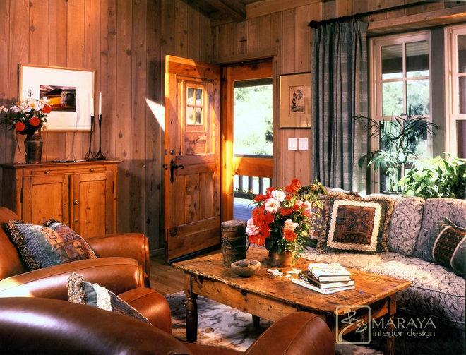 Farmhouse Living Room by Maraya Interior Design