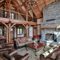 Rustic Living Room by Timberpeg