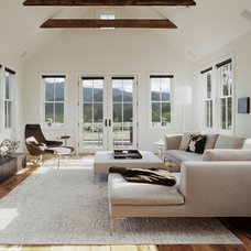 transitional living room by Tim Cuppett Architects
