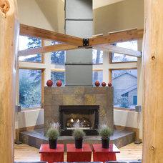 Rustic Living Room by Design Build Team Inc