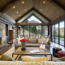 Rustic Living Room by Michael Rex Architects