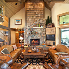 Rustic Living Room by Tyner Construction Co Inc
